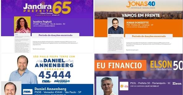 Veja os candidatos que já usaram a plataforma Doação Eleitoral Legal